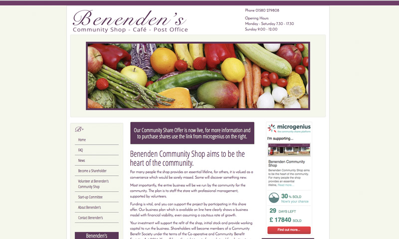 Benenden's Community Shop