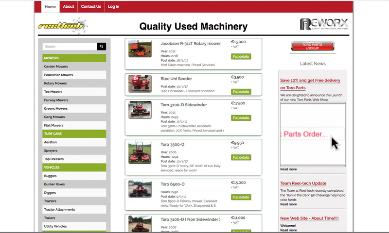 ReelTech Used Machinery